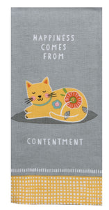 Cat Patch Contentment Tea Towel