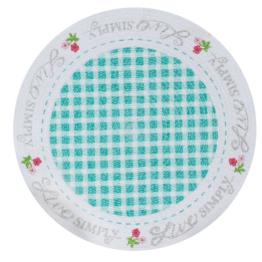 Live Simply Braided Placemat