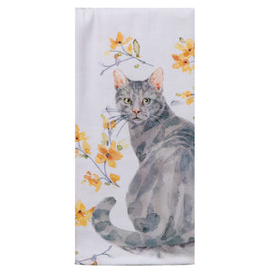Sweet Home Cat Dual Purpose Terry Towel