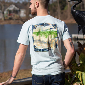 Redfish Tail with Boat Topside Cotton Tee