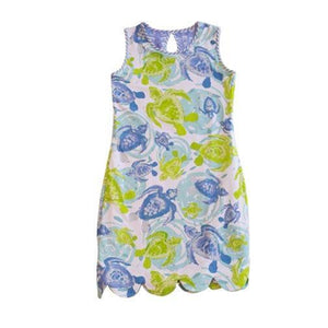 K!K! Reversible Ladies Dress Batik and Sea Turtles