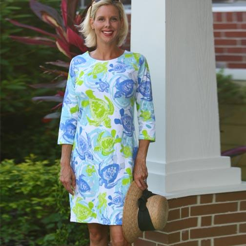 Candy Sea Turtles Ladies Shift Dress