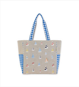 Sailboat Shoulder Tote