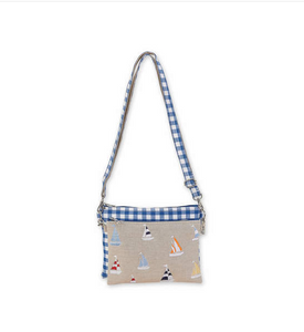 Sailboat Canvas Crossbody