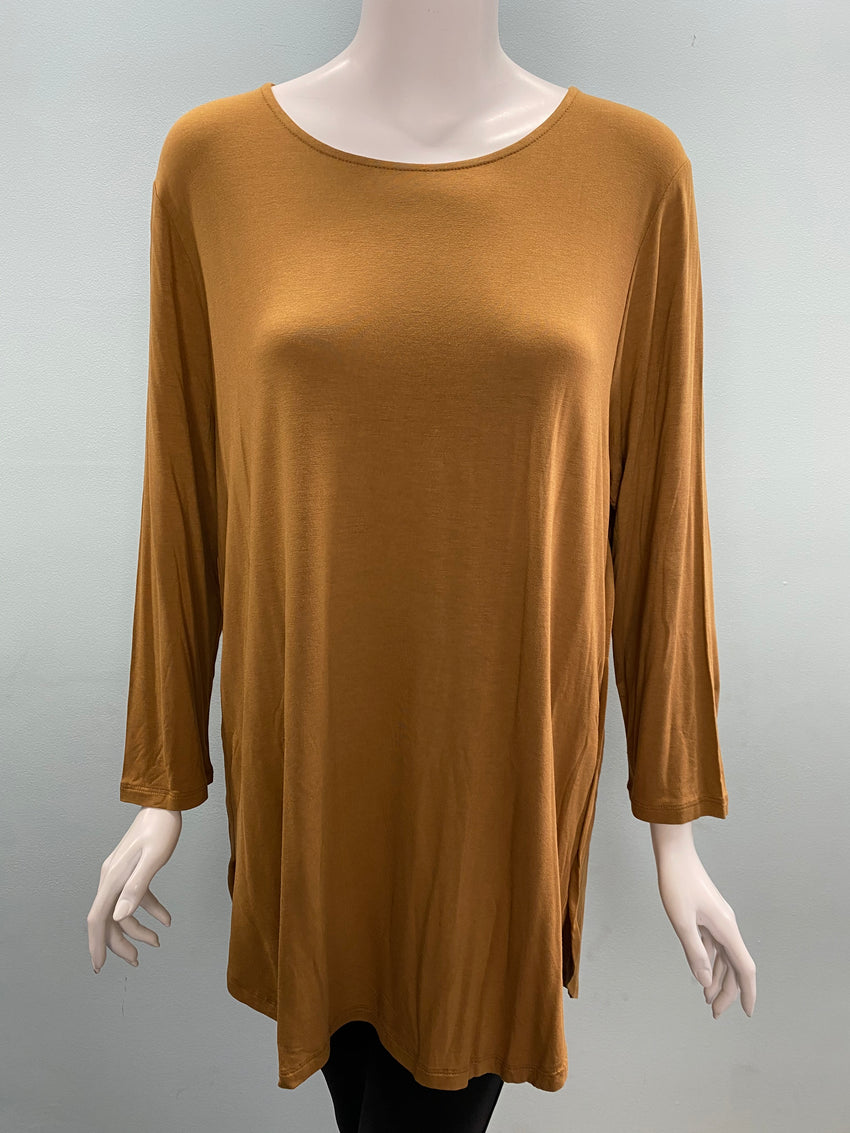 Sarah Solid Tunic Top - Available in 3 Colors
