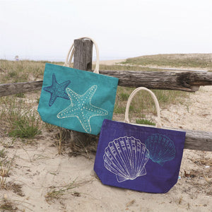 Sea Shells Jute Tote