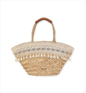 Seagrass Shoulder Tote