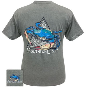 Men's Southern Limit Blue Crab Tee