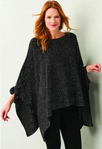 Sparkle Lace-Up Poncho