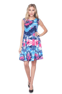Splashing Tie-Dye Tank Dress