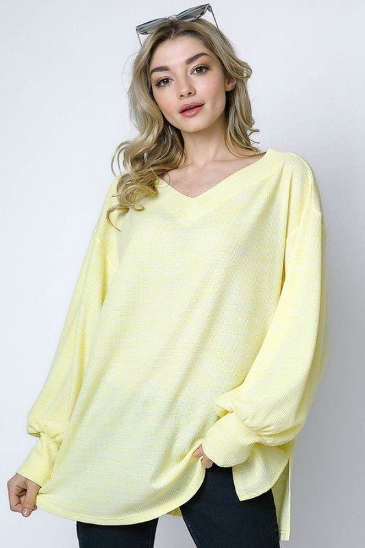 Subtly Spring Top - Yellow