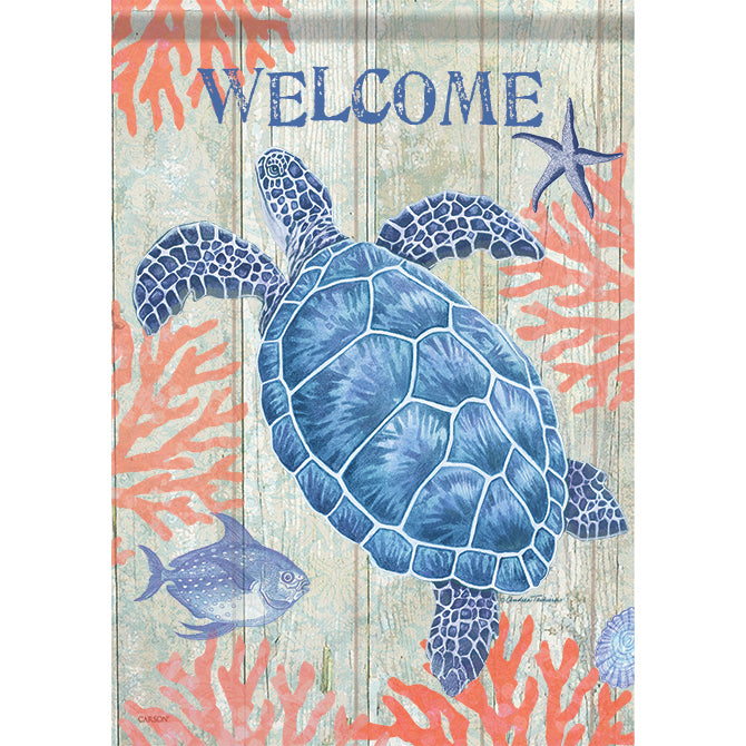 Swimming Sea Turtle Flag - Small