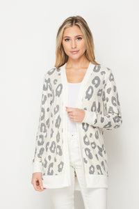 Taupe Cheetah Cardigan