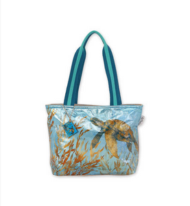 Foiled Underwater Turtle Tote