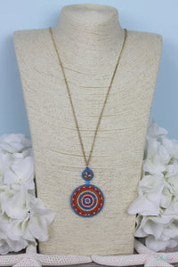 Vibrant Beaded Pendant Necklace