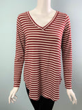 Victoria V Neck Striped Top - Available in 4 Colors