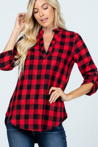 Vivian Checkered Top
