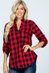 Vivian Checkered Top  FINAL SALE