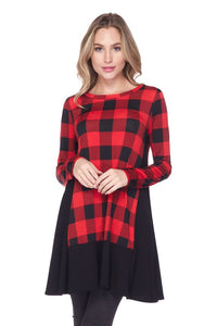 Winterberry Plaid Top FINAL SALE