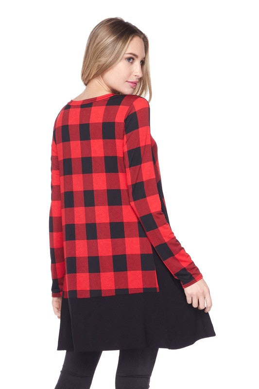 Winterberry Plaid Top