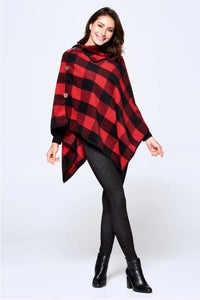 Zoe Buffalo Check Poncho - Available in 2 Colors!