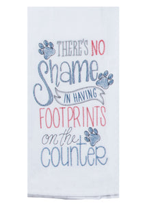 Purr Footprints Embroidered Flour Sack Towel