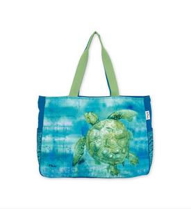Painted Turtles Oversized Tote