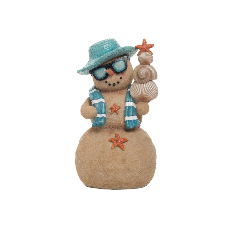 Christmas Snowman with Straw Hat