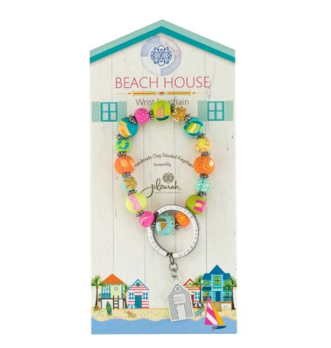 Beach House Wrist Keychain