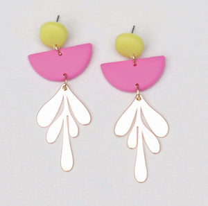 Blythe Pink & Yellow Earrings