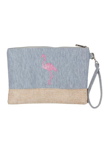 Brooke Flamingo Wristlet