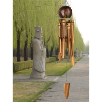 Whole Coconut Bamboo Chime - Medium