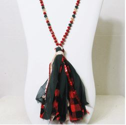 Christmas Tassel Necklace