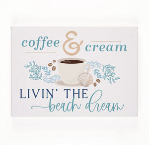Coffee & Cream Canvas Sign
