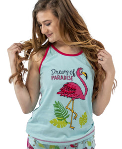 Dream Of Paradise Women's Flamingo Tank Top