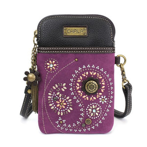 Dazzled Paisley Cell Phone Crossbody