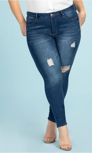 High Rise Skinny Jean Curvy Fit