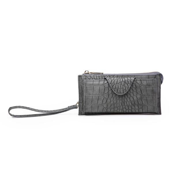 Kyla Wallet in Crocodile Dark Gray
