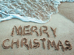Greeting Card - Christmas in the Sand