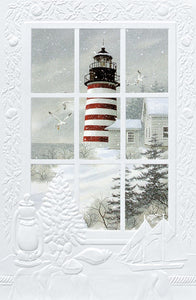 Greeting Card - West Quoddy Light