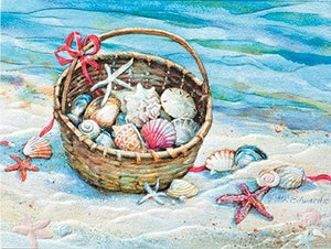 Greeting Card - Seashell Basket