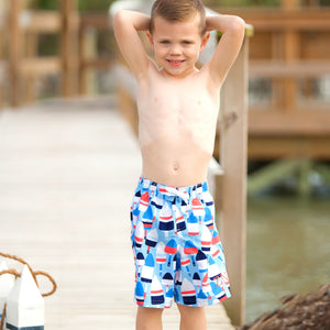 Oh Buoy Boys' Swim Trunks