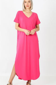 Hot Pinkie Maxi Dress