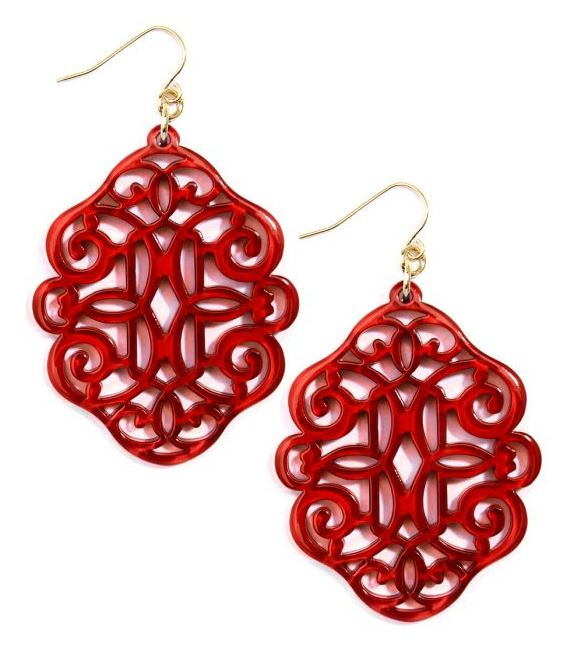 Regal Resin Drop Earring - Available in 5 Colors!