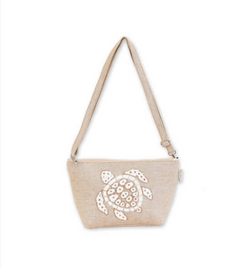 Tan Beaded Sea Turtle Crossbody