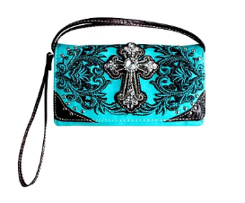 Blinged Out Wallet - Turquoise