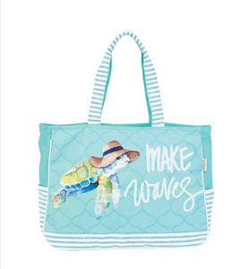 Make Waves Turtle Oversized Tote