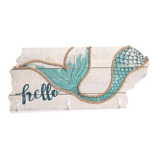 Hello Mermaid Sign w/ Hooks