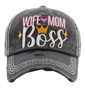 Wife, Mom, Boss - Available in 2 Colors!