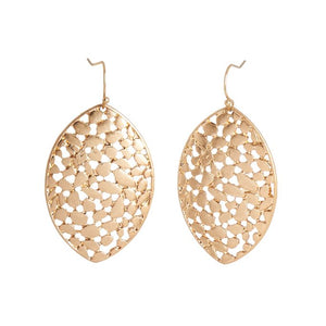 Gold Fern Dangle Earrings